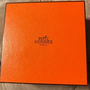 Hermès Silver Hoops NEW!